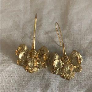 ZARA gold floral earrings